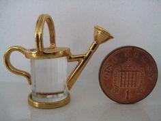 MINIATURE SWAROVSKI CRYSTAL MEMORIES  WATERING CAN