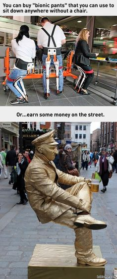 Thing is, street performers don't use those things. Its called leg strength.