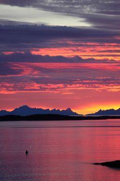 Midnight Sun - light all night! Norway