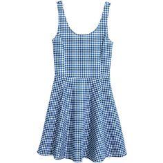 Jersey Dress $9.99 ($9.99) ❤ liked on Polyvore featuring dresses, sleeveless jersey dress, blue circle skirt, short dresses, blue dress and blue jersey