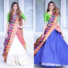 The most unique & gorgeous lehenga dupatta draping styles that'll amp up your entire wedding look. Learn how to drape lehenga dupatta in different styles. Easy and simple ways to drap a lehenga dupatta to look more stylish. Bridal Dupatta, Lehenga Dupatta, Saree Gown, Saree Wearing Styles, Saree Styles, Sari Draping Styles, Indian Wedding Outfits, Indian Outfits, Indian Clothes