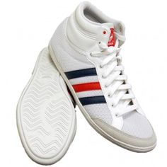 Basket montante adidas plimcana mid blanc rouge bleu mesh