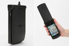 What! This case turns your iPhone into an old school flip phone.