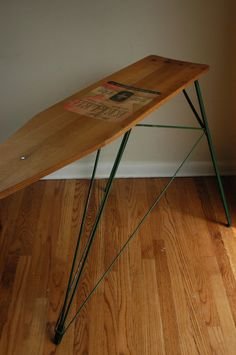 Vintage Wood Ironing Board (console table/entry table)