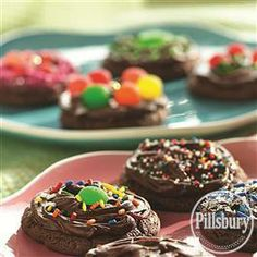 Frosted Devil's Food #Cookies from Pillsbury® Baking