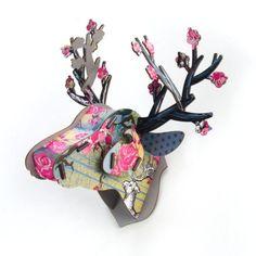 MacKenzie-Childs - Miniature Trophy Deer - It's a Gem!