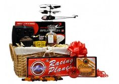 Model Man Gift Basket - £65.00. Featuring toy helicopter, modelling kits, muffins  & sweets Gift Baskets For Him, Food Gift Baskets, Gifts For Him, Gifts For Teen Boys, Food Gifts, Sweets, Toys, Model, Fun