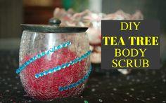 DIY Tea Tree Body Scrub For Glowing Skin