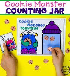 Preschool Counting Games - Monster Theme. Fun math ideas for kids. #backtoschool #monstertheme #preschool #planningplaytime