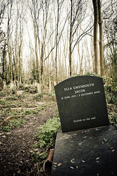 Highgate Cemetery, London - that's how I'd like to be.