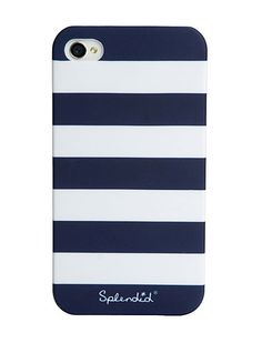 Splendid Official Store, Striped iPhone 4 Case, navy white stripe, Womens : Accessories, SATECH001