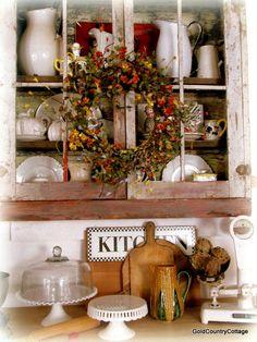 GoldCountryCottage Fall Decor, Shabby, Wreaths, Autumn, Table Decorations, Kitchen, Furniture, Ideas, Home Decor