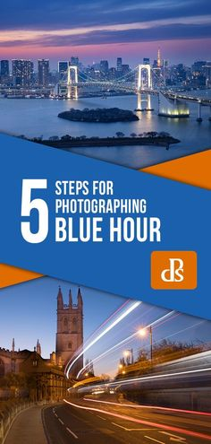 5 Steps for Photographing the Blue Hour 5 Steps for Photographing the Blue Hour Photography Settings, Photography Lessons, Photography Camera, Sunset Photography, Photography Tutorials, Aperture And Shutter Speed, Digital Photography School, Before Sunrise, Blue Hour