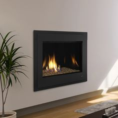 Excellent Photographs Gas Fireplace update Ideas The elements external may very well be frightful, however, your hearth is really so beautiful! You may well be. Tv Above Fireplace, Linear Fireplace, Fireplace Art, Fireplace Update, Fireplace Shelves, Fireplace Design, Fireplace Stone, Modern Gas Fireplace Inserts, Gas Fireplaces