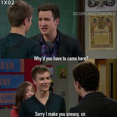 "#GirlMeetsWorld 1x02 ""Girl Meets Boy"" - Lucas and Cory"