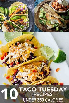 One of these healthy taco recipes is sure to satisfy when you're looking for an easy weeknight dinner. Whoever invented the beloved taco was a genius. Simply take a corn or flour tortilla in one hand and scoop in lettuce, spiced meat, guacamole, salsa. Healthy Taco Recipes, Healthy Tacos, Healthy Cooking, Mexican Food Recipes, Dinner Recipes, Healthy Eating, Cooking Recipes, Spanish Recipes, Spanish Food