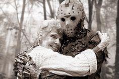 Mrs. Vorhees with her son, Jason