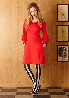 Margot kjole VERA ROSSELINI no 695 Mod Fashion, Womens Fashion, King Louie, All About Fashion, Hosiery, American Girl, Designer Dresses, Doll Clothes, Tights