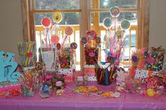 This candy buffet was packed with sweets and take-home containers.  What will be in yours? Build it today:  http://www.candywarehouse.com/buffet-builder/
