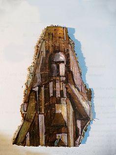 Fragmento de dibujo sobre aglomerado de madera 1995A.L.Moure Strangis