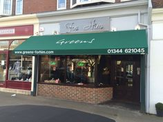 A great contemporary look for Greens in Sunningdale that totally transforms the shop by Deans Blinds And Awnings