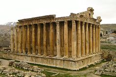 Temple of Bacchus, Baalbek, Lebanon. My dream is to go there one night, drink three bottles of wine, and pass out on the stone steps.