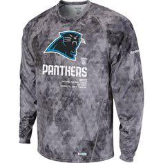 Amazon.com : Reebok Carolina Panthers Sideline United Print Long Sleeve T-Shirt Extra Large : Outerwear Jackets : Sports & Outdoors