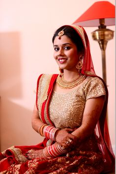 Indian Bride - Red and Gold Outfit
