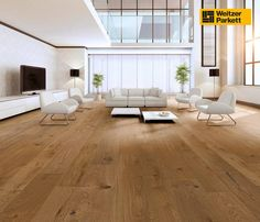 Weitzer parquet, oak almond original, bevelled, brushed – # brushed Source by Living Room Themes, Paint Colors For Living Room, Living Room Modern, Home Living Room, Living Room Designs, Engineered Hardwood Flooring, Timber Flooring, Contemporary Interior Design, Home Interior Design