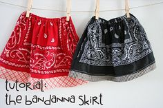 bandana skirt: tutorial for a quick, inexpensive skirt