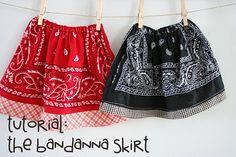 bandana skirt: tutorial for a quick, inexpensive skirt
