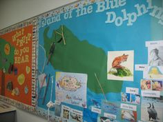 island of the blue dolphins Map It bulletin board 4th Grade Ela, 4th Grade Writing, 5th Grade Reading, Common Core Language Arts, Teaching Language Arts, Literacy Circles, Reading Fair, California History, Common Core Reading