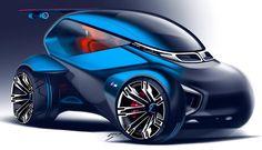 """""""By Artem Smirnov @smartemcom  Via www.behance.net/smartyom BMW . #bmw #behance #portfolio #idea #conceptcar #conceptdesign #cardesign #carsketch…"""""""
