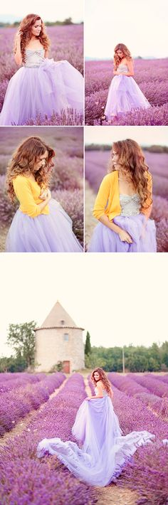 Romantic Provence Lavender Field Photo Session - Praise Wedding ........ the absolute dream!
