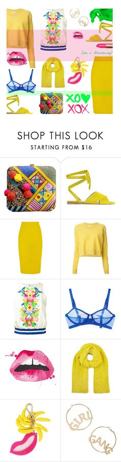"""""""So bright!"""" by alongcametwiggy ❤ liked on Polyvore featuring Gianvito Rossi, J.Crew, See by Chloé, Manish Arora, STELLA McCARTNEY, GALA, Miss Selfridge, Charlotte Olympia and BP."""