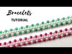 DIY Bracelets. Easy beading tutorial. 1 beaded pattern for 2 beautiful and elegant bracelets - YouTube