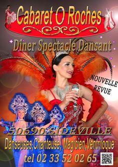 cabaret o roches cherbourg diner spectacle danseuses normandie chanteuse sideville soiree location de salle theme sainte mere eglise manche magicien