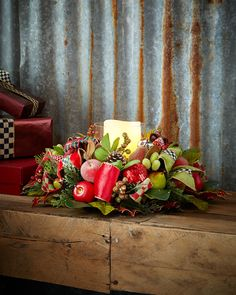 Courtly Christmas Candle Centerpiece