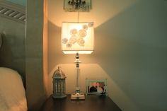 These flowers seem to be everywhere right now, but they make such a soft addition to these lamps.