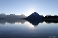 A dusk scene just before sunset over the Tetons in Wyoming.  #Wyoming #GrandTeton #Mountain #Photography