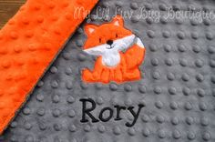 Hey, I found this really awesome Etsy listing at https://www.etsy.com/listing/263378859/fox-baby-blanket-personalized-small