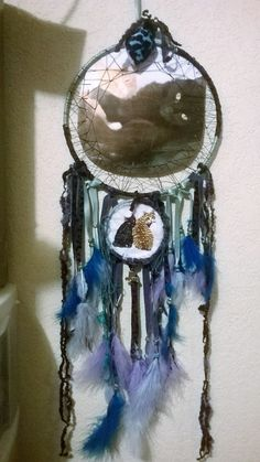 Large Kitten Dream Catcher, cat dreamcatchers are handmade,2 cats dream catcher,a personalized pet photo plus embroidered pets,wall decor by DreamCatcherMan on Etsy