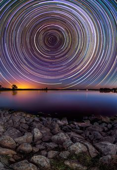 Australia. Lovely time lapse photography of the night sky.