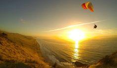 Rémy Pruni soaring over the Dune du Pilat in France.