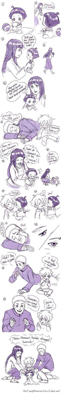 Naruto is a very great daddy I think And I wish I could have an btother like Boruto ^^ I am very simular to Naruto soooo xD Yeah. I really love how nice he is Naruto x Hinata Sasuke, Anime Naruto, Sharingan Kakashi, Naruto Und Hinata, Naruto Cute, Sarada Uchiha, Manga Anime, Boruto, Naruhina