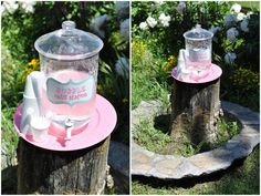 Bubble refill station using plastic drink dispenser: individual bubble containers r just never enough