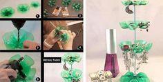 Imagen vía We Heart It https://weheartit.com/entry/139100591/via/25840937 #accesories #bottle #creative #diy #holder #jewelry #plastic #tutorial