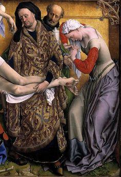 Rogier van der Weyden The Descent from the Cross 1435-1438 (detail)