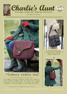 faabd910b0 Sewing pattern to make the Sudbury Saddle Bag - PDF pattern INSTANT DOWNLOAD