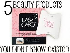 "5 Cheap Beauty Products You Didn't Know Existed *TIP*- Save your $$ and use old business cards instead of buying the ""lash card""! The rest are good though! More FREE beauty tips from my over 20 years of Studio/Celebrity work? Go To- http://facebook.com/proglamchick"